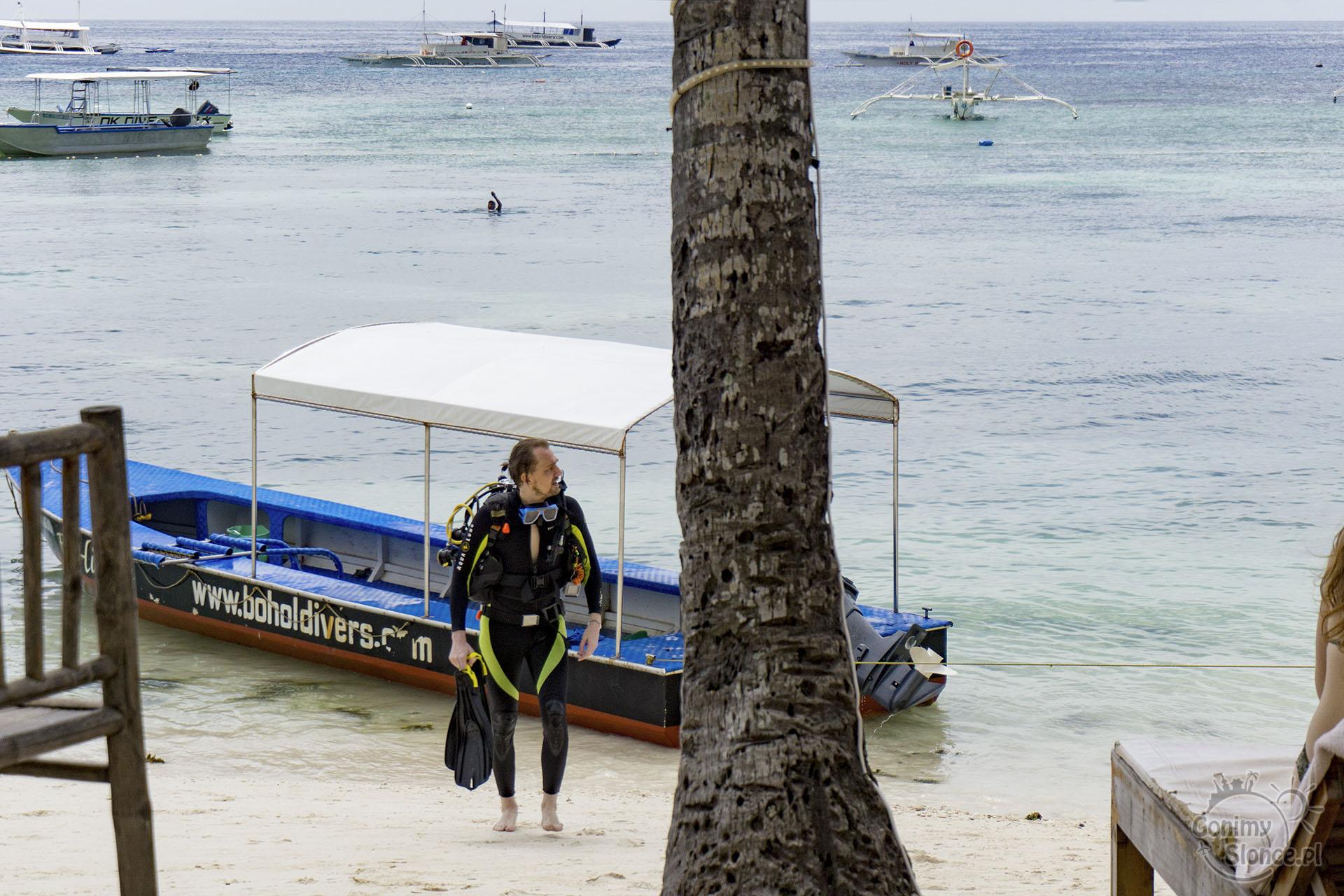 Filipiny, Panglao - nurkowanie z Alona Beach