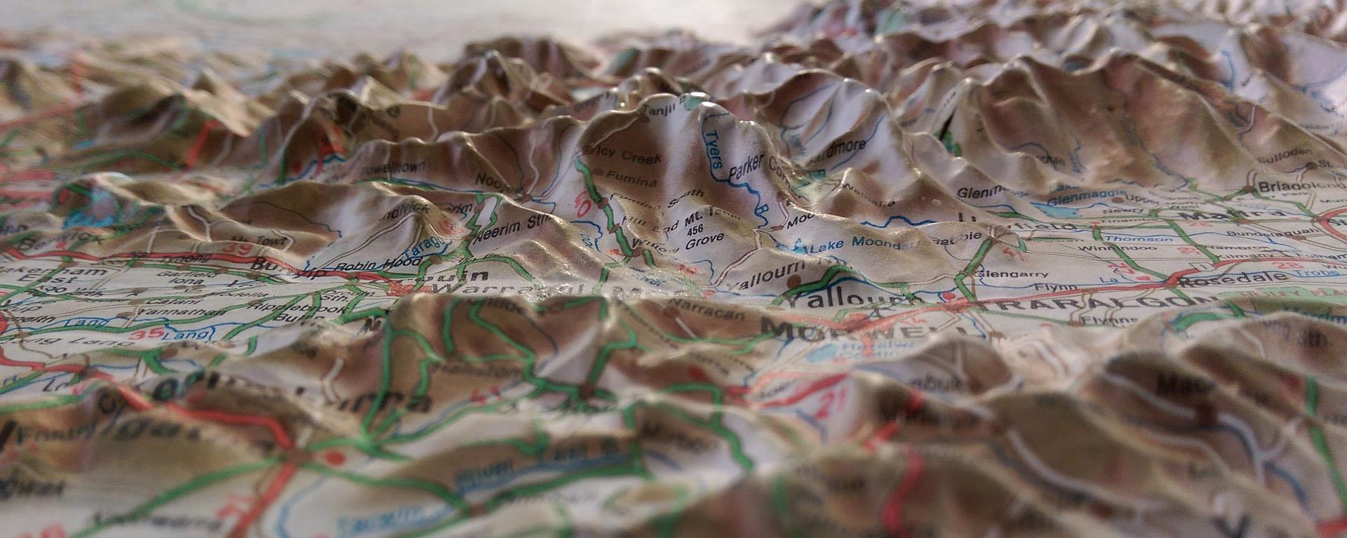 wyprawy rowerowe - planowanie z mapą