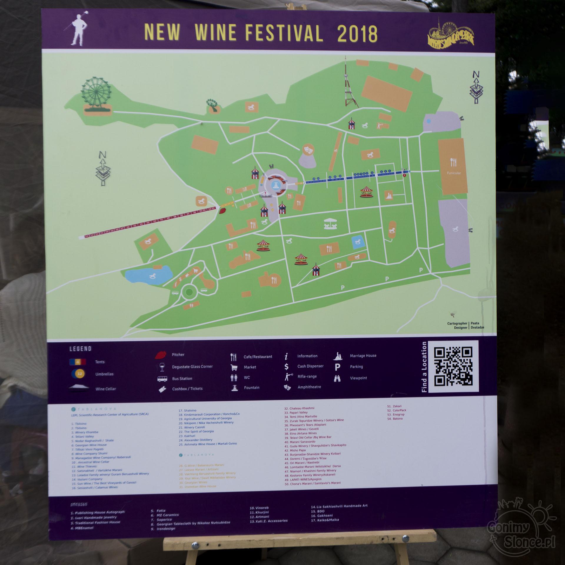 Festiwal Młodego Wina w Tbilisi - mapa festiwalu