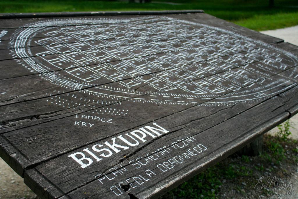 Biskupin - plan osady | Gród łużycki