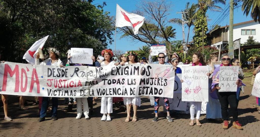 Protesty na Wyspie Wielkanocnej - prawa kobiet Rapa Nui